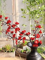 abordables -Fleurs artificielles 1 Une succursale Simple Classique Traditionnel / Classique Prune Fleur de Table