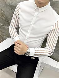 economico -camicia da uomo slim - colletto in tinta unita