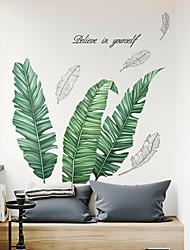 Недорогие -Декоративные наклейки на стены - 3D наклейки Цветочные мотивы / ботанический Ванная комната / Столовая / Кабинет / Офис