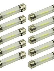 Недорогие -10 шт. 41mm / 39mm Автомобиль Лампы 1 W COB 80 lm 1 Светодиодная лампа Подсветка для номерного знака / Лампа поворотного сигнала / Внутреннее освещение Назначение Универсальный