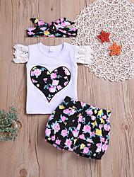 رخيصةأون -مجموعة ملابس كم قصير طباعة للفتيات طفل