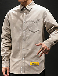 billige -Herreskjorte - solid farget skjorte krage