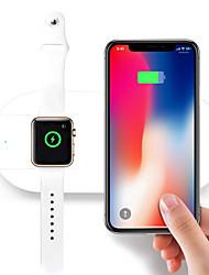 Недорогие -10 Вт 2in1 ци беспроводное автомобильное зарядное устройство коврик зарядная станция для apple watch iphone x 8/8 плюс samsung s9 s8