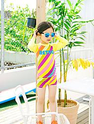 cheap -JIAAO Girls' Rash Guard Dive Skin Suit UV Sun Protection Windproof Ultra Light (UL) Chinlon Terylene Long Sleeve Swimwear Beach Wear Swimwear Diving Suit Painting 2-Piece Swimming Diving / Stretchy