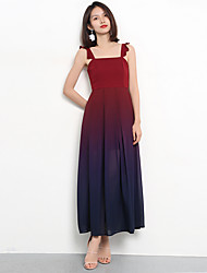 cheap -A-Line Straps Long Length Chiffon Bridesmaid Dress with Ruching by LAN TING Express