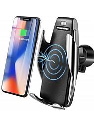 Недорогие -Bestsin Ци беспроводное автомобильное зарядное устройство держатель телефона 10 Вт быстрая зарядка гравитационная связь вентиляционная решетка