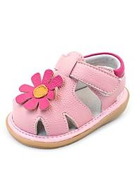 halpa -Tyttöjen Kengät Nahka Kesä Comfort / Ensikengät Sandaalit varten Vauvat Valkoinen / Pinkki