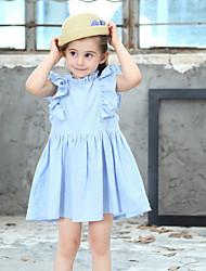 Χαμηλού Κόστους -Παιδιά Κοριτσίστικα Μονόχρωμο Φόρεμα Ανθισμένο Ροζ