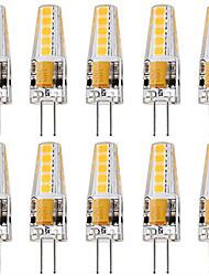 abordables -10pcs 3 W 250 lm G4 Luces LED de Doble Pin T 10 Cuentas LED SMD 2835 Fiesta Decorativa Decoración de la boda de Navidad Blanco Cálido Blanco Fresco 12 V