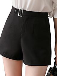 economico -Per donna Pantaloncini Pantaloni - Tinta unita Nero