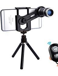 Недорогие -Объектив для мобильного телефона Длиннофокусный объектив стекло / Пластиковые & Металл / ABS + PC 8X Макро 30 mm 3 m 9 ° Линза / объектив со стендом / Творчество / Новый дизайн