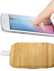 Недорогие -Ци беспроводное автомобильное зарядное устройство быстрая зарядка тонкий деревянный коврик для коврика для Samsung S8 Iphone 8 плюс х