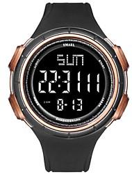 levne -Pánské Sportovní hodinky Digitální Z umělé kůže Černá / Zelená / Béžová Voděodolné Kalendář Svítící Digitální Na běžné nošení Módní - Béžová Zelená Modrá