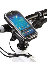 Недорогие -ROSWHEEL Сотовый телефон сумка Бардачок на руль 5.5 дюймовый Сенсорный экран Велоспорт для Samsung Galaxy S6 iPhone 5c iPhone 4/4S Черный Оранжевый Велосипедный спорт / Велоспорт / iPhone X