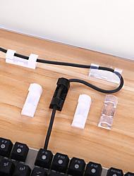 Недорогие -Пластик Самоклеющиеся / Простота установки Главная организация, 20шт Организация кабелей