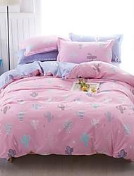 preiswerte -Bettbezug-Sets Blumen / Luxus / Zeitgenössisch Polyester Bedruckt 4 StückBedding Sets