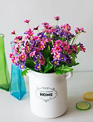 levne -Umělé květiny 5 Větev Klasické Jevištní doplňky Pastýřský Styl Sedmikrásky Věčné květy Květina na stůl