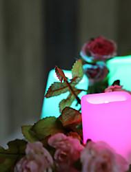 levne -24ks LED noční světlo / Světlo svíček RGB + Teplý Tlačítko napájeno baterií