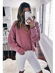 baratos -Mulheres Camisa Social Sólido Delgado