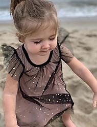 tanie -Brzdąc Dla dziewczynek Śłodkie Solidne kolory Bez rękawów Sukienka Rumiany róż