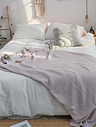 Χαμηλού Κόστους -Πολύ λειτουργικές κουβέρτες, Μονόχρωμο Πλεκτό / Βαμβάκι Θερμαντικό Comfy Εξαιρετικά μαλακό κουβέρτες