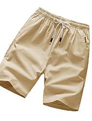 baratos -Homens / Mulheres Básico Chinos / Shorts Calças - Sólido Azul