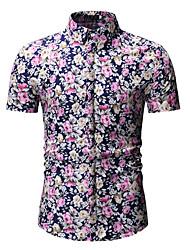db267844cc baratos Camisas Masculinas-Homens Camisa Social Estampado