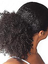 Недорогие -Клип во / на Конские хвостики Регулируется / Для темнокожих женщин / 100% девственница человеческие волосы Remy / Необработанные натуральные волосы Волосы Наращивание волос Кудрявый До щиколотки