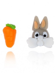 Недорогие -Жен. Серьги Непарные серьги Rabbit Животный принт Морковь Симпатичные Стиль Для детей Серьги Бижутерия Оранжевый Назначение Свидание 1 пара