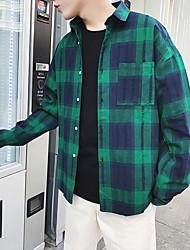 cheap -Men's Shirt - Check Classic Collar