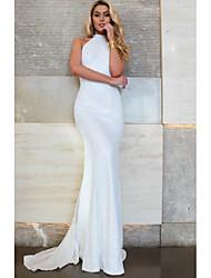 cheap -Women's Elegant Trumpet / Mermaid Dress - Solid Colored White M L XL