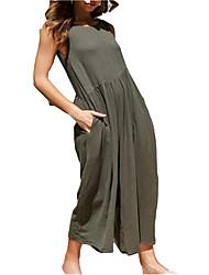 baratos -Mulheres Solto balanço Vestido Com Alças Longo