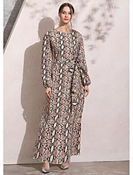 preiswerte -Frauen Maxi-Swing-Kleid khaki m L xl