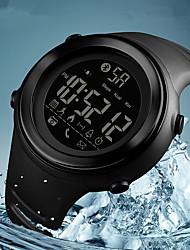 Недорогие -SKMEI Муж. Спортивные часы Цифровой силиконовый Pезина Черный / Жад 50 m Защита от влаги Bluetooth Календарь Цифровой На каждый день Мода - Синий Черно-белый Хаки