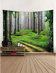 cheap -Landscape Wall Decor 100% Polyester Contemporary Wall Art, Wall Tapestries Decoration