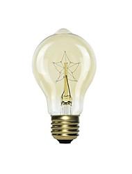 رخيصةأون -1PC 40 W E26 / E27 أصفر المتوهجة خمر اديسون ضوء لمبة 220-240 V