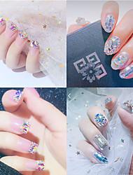 tanie -10 pcs Biżuteria do paznokci Kryształ / Transparentny / Zmieniające się kolory Kreatywne Sztuka zdobienia paznokci Manikiur pedikiur Codzienny / Plaża / Festiwal Elegancki / Słodka Lolita