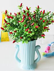 abordables -Fleurs artificielles 2 Une succursale Classique Mariage style pastoral Plantes Fleur de Table
