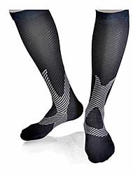 Недорогие -Носки Компрессионные носки Носки для велоспорта Универсальные На открытом воздухе Разные виды спорта Велоспорт Дышащий Удобный Черный Пурпурный Фиолетовый Весна Лето Осень Нейлон M L XL / Зима