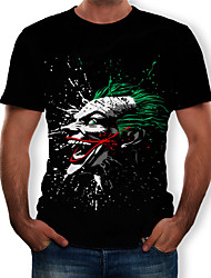 cheap -Men's T-shirt - Color Block / 3D / Tribal Print