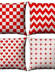 billige -4.0 stk Bomull / Lin Putevar, Stripet Enkel Geometrisk Enkel Geometrisk