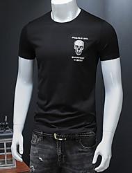 economico -t-shirt da uomo - girocollo teschio