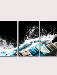 Недорогие -С картинкой Роликовые холсты Отпечатки на холсте - фантазия Музыка Modern 3 панели Репродукции
