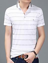 halpa -miesten paita - raidallinen paita kaulus