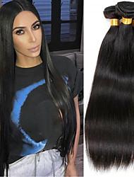 voordelige -4 bundels Braziliaans haar Natuurlijk recht Mensen Remy Haar Menselijk haar weeft Verlenging Bundle Hair 8-28inch Natuurlijke Kleur Menselijk haar weeft Dansen Zijdeachtig Modieus Extensions van echt