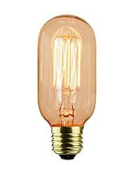 levne -1ks 40 W E26 / E27 T45 Žlutá transparentní tělo Incandescent Vintage Edison žárovka 110-130 V