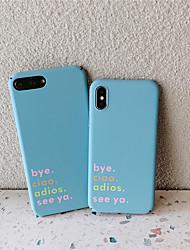 Недорогие -Кейс для Назначение Apple iPhone XS / iPhone XR / iPhone XS Max Матовое Кейс на заднюю панель Слова / выражения Твердый ПК