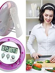 Недорогие -круглая форма цифровой магнитный жк-секундомер кухня гоночный будильник