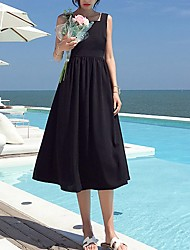 זול -כתפיה מידי שמלה סווינג בגדי ריקוד נשים