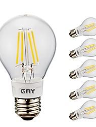 abordables -6pack- gmy a19 a mené l'ampoule de filament 4w 400 / 500lm a mené l'ampoule d'Edison avec la base 2700k / 6500e d'e26 pour la chambre à coucher salon home café décorative